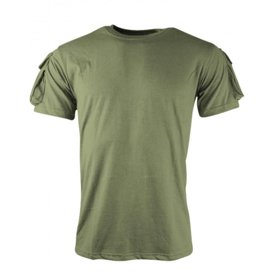 75980ab44de0e9 Tactical T-Shirt OLIVGRUEN mit Klett für Patches